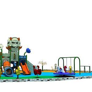 机器人滑梯儿童乐园模型