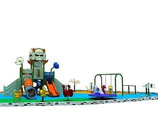 机器人滑梯儿童乐园3d模型