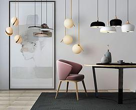 北欧桌子摆件吊灯模型