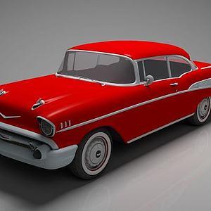 红色跑车模型