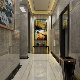 样板间电梯间模型