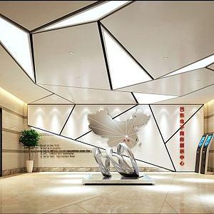 3d巴東電子商務展示中心模型