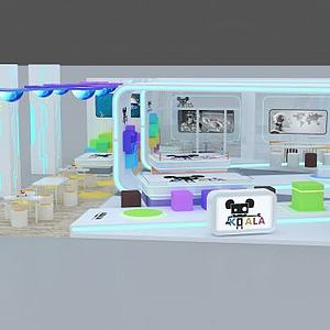 3d機器人展廳模型