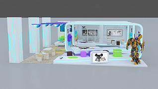 3d机器人展厅模型