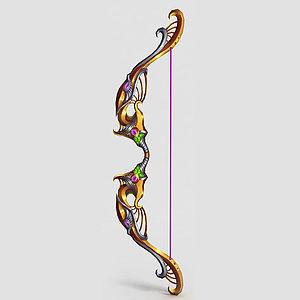 游戏道具弓箭模型3d模型