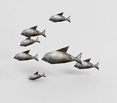 游戏角色鱼模型3d模型