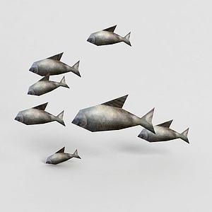 3d<font class='myIsRed'>游戏角色</font>鱼模型