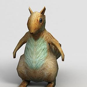 游戏角色小熊模型3d模型