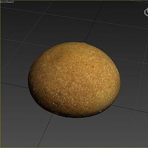 3d烤馍金馒头模型