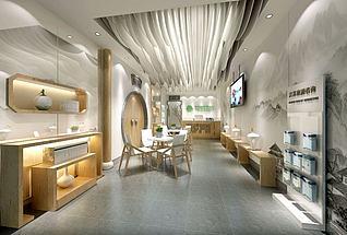 旅游公司前台接待室3d模型