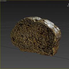 游戲道具面包模型3d模型