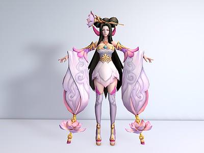 C4D<font class='myIsRed'>王者榮耀人物</font>女角色模型