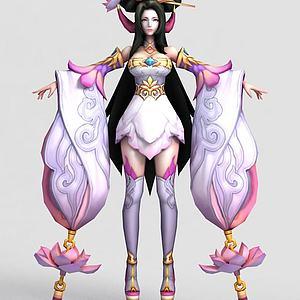 3d<font class='myIsRed'>王者榮耀</font>人物女角色模型