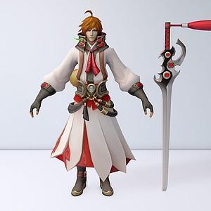 C4D游戲王者榮耀2012男角色模型