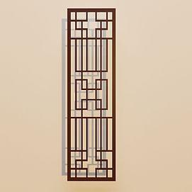 花格窗户门窗模型