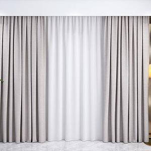 现代窗帘纱帘模型3d模型