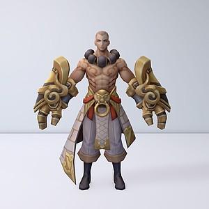 C4D王者榮耀2012男游戲角色模型