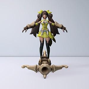 C4D王者榮耀游戲角色模型