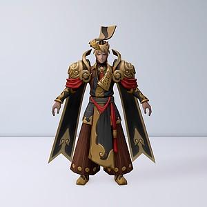 C4D王者榮耀男游戲角色模型