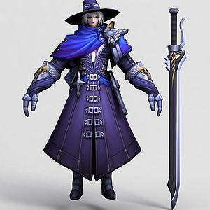 王者榮耀游戲人物模型3d模型