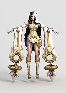 王者榮耀游戲人物角色模型3d模型