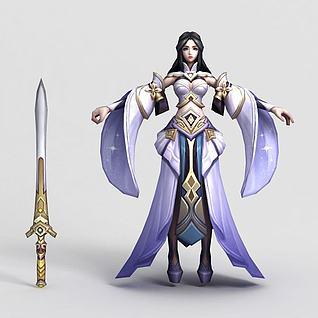3d王者荣耀hero2013人物模型
