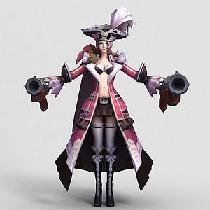 王者榮耀人物女角色模型3d模型