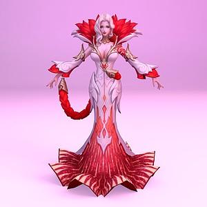 C4D王者榮耀2013女游戲角色模型
