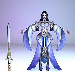 C4D王者榮耀2013女游戲人物模型