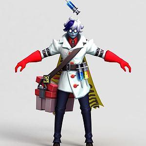 王者榮耀男游戲角色模型3d模型