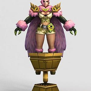 王者榮耀2013女游戲人物模型3d模型