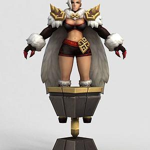 王者荣耀2013女游戏角色模型3d模型
