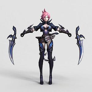 王者榮耀2013女游戲角色模型3d模型