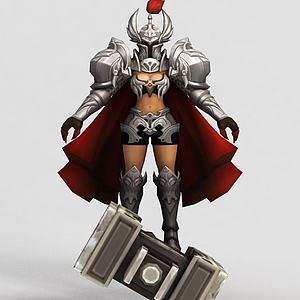 王者榮耀女游戲角色模型3d模型