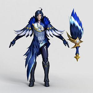 王者荣耀2013游戏角色模型3d模型