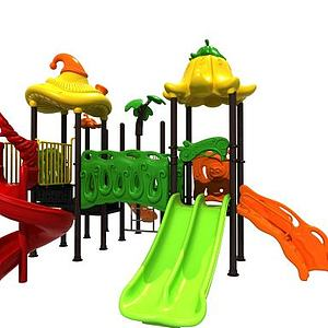儿童滑滑梯可爱造型模型