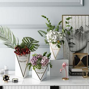 北欧花瓶饰品摆件3d模型