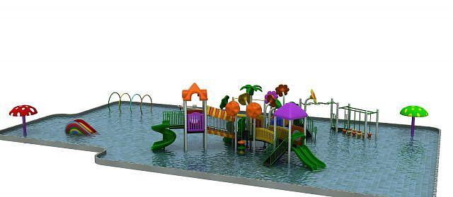 游乐设施水上滑梯模型
