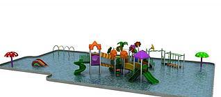 游乐设施水上滑梯3d模型