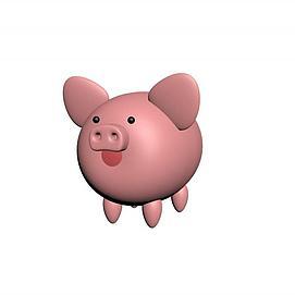 粉红小猪模型