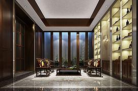 中式会客厅模型