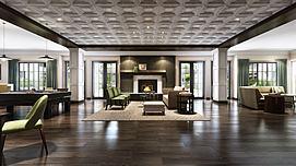 大型客厅空间表现模型