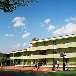 教學樓模型3d模型