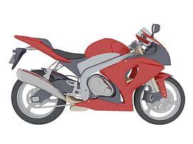 现代摩托车模型