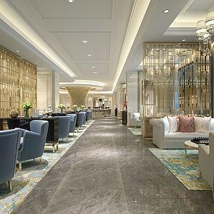 星級酒店西餐廳模型3d模型