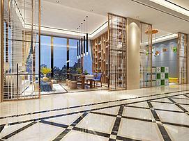 酒店会客厅模型