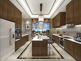 整体厨房模型