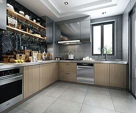 整体厨柜模型