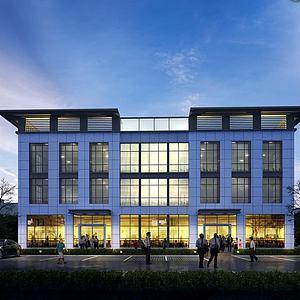 3d辦公樓夜景模型