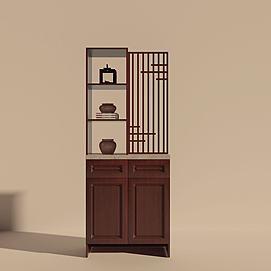 中式鞋柜模型